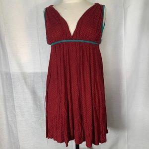 Dresses & Skirts - Red And Blue Polka Dot Dress